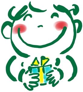 プレゼントを持つ人の写真素材 [FYI00215671]
