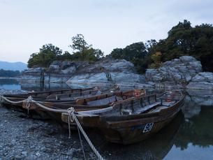 渓流下りの船着き場の写真素材 [FYI00215738]