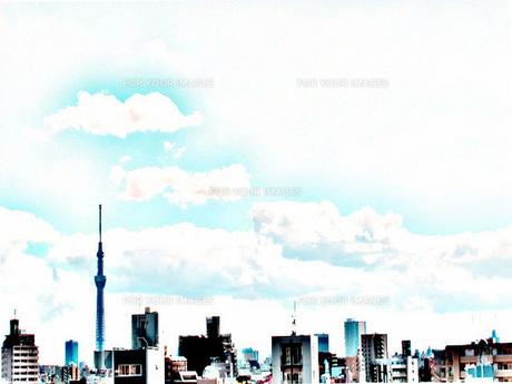 東京スカイツリーと青空の写真素材 [FYI00215797]