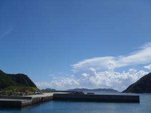 渡嘉敷島の港から 遠景の写真素材 [FYI00215973]