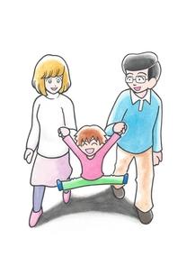散歩する家族の写真素材 [FYI00216088]