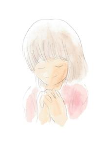 祈る女の子の写真素材 [FYI00216123]
