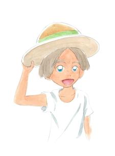 麦わら帽子の男の子の写真素材 [FYI00216127]