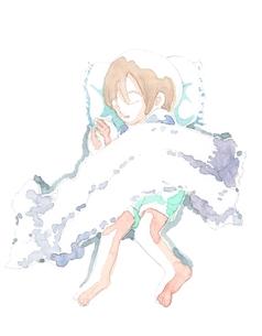 昼寝をする男の子の写真素材 [FYI00216134]