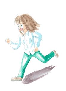 走る女性の写真素材 [FYI00216136]