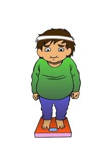 体重計に乗る中年男性の写真素材 [FYI00216138]