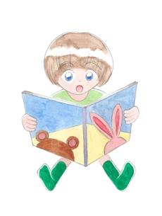 絵本を読む子供の写真素材 [FYI00216144]