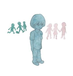孤立する小学生の男の子の素材 [FYI00216145]