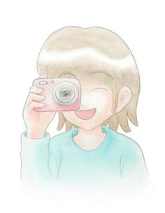 写真を撮る女の子の写真素材 [FYI00216151]