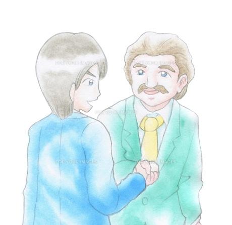 握手をするビジネスマンの写真素材 [FYI00216154]