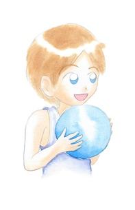 ボールを持つ男の子の写真素材 [FYI00216160]