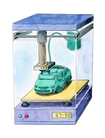 3Dプリンターの写真素材 [FYI00216169]