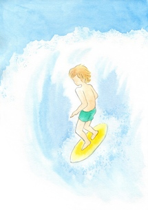 サーフィンをする男性の写真素材 [FYI00216181]