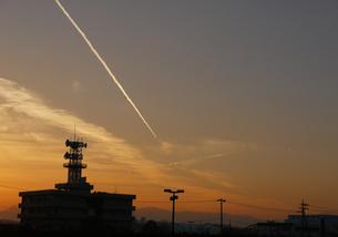 飛行機雲の写真素材 [FYI00216186]