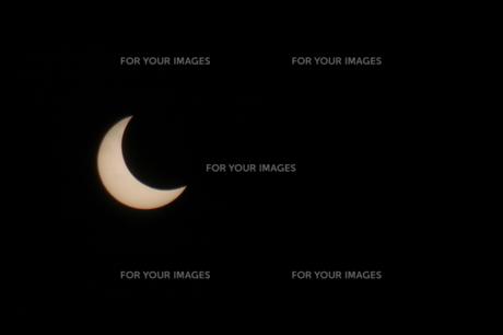 太陽と月の写真素材 [FYI00216639]