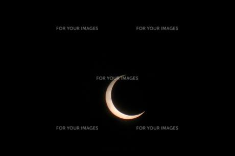 太陽と月の写真素材 [FYI00216644]