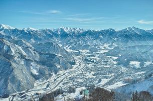 越後湯沢の冬風景の写真素材 [FYI00216710]