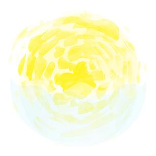 太陽と海の円形モチーフの写真素材 [FYI00216714]