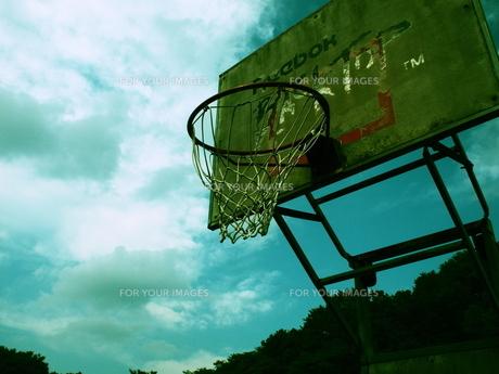 バスケットゴールの夢の写真素材 [FYI00216811]