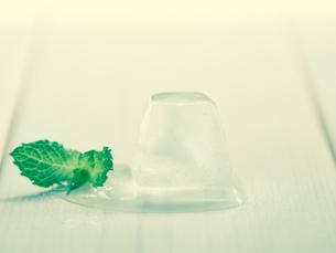 氷とミントの写真素材 [FYI00217026]