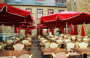 フランスのカフェテラスの素材 [FYI00217312]