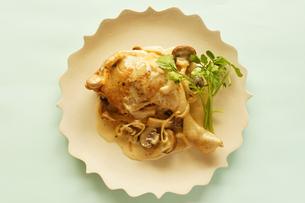 鶏肉ときのこのフリカッセの写真素材 [FYI00218104]