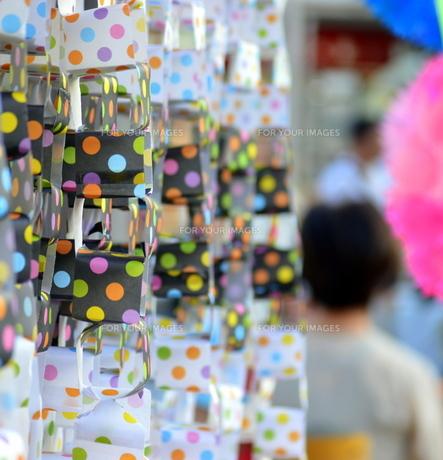 サイコロの七夕飾りの写真素材 [FYI00218218]
