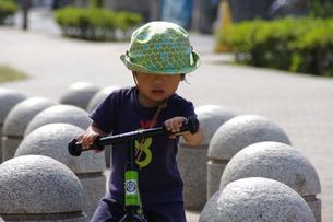 自転車練習の写真素材 [FYI00218366]