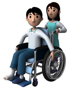 車椅子の写真素材 [FYI00218405]