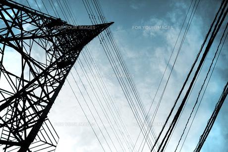 鉄塔と電線の素材 [FYI00219320]