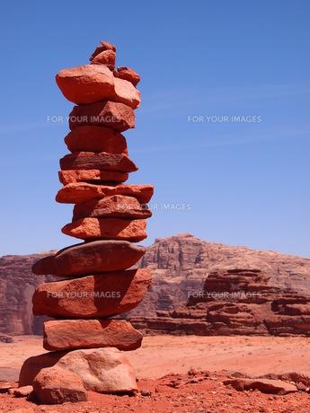 ワディラムの石碑の写真素材 [FYI00219373]