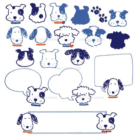 クレヨンタッチのイヌの写真素材 [FYI00219570]