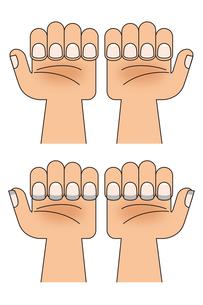 綺麗な爪と汚れた爪の写真素材 [FYI00219986]