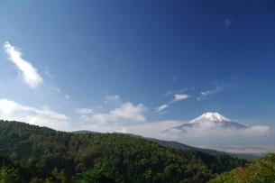 富士山:Mt.Fuji:残雪:快晴の写真素材 [FYI00220436]