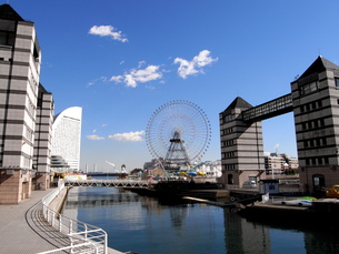 横浜:みなとみらい:ドックの写真素材 [FYI00220497]