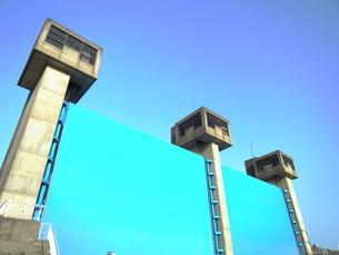 江戸川水門の写真素材 [FYI00220578]