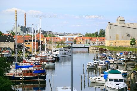 北欧の小さな港の写真素材 [FYI00221582]