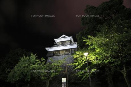 夜の未申櫓の写真素材 [FYI00221604]