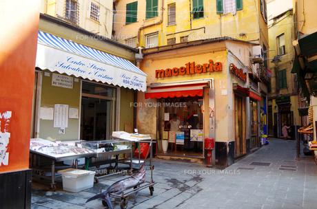 イタリア、ジェノヴァの旧市街の写真素材 [FYI00221842]