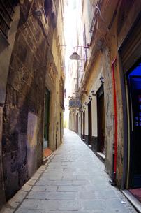イタリア、ジェノヴァの旧市街の写真素材 [FYI00221854]