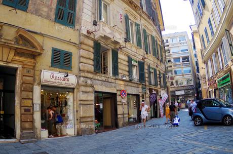 イタリア、ジェノヴァの旧市街の写真素材 [FYI00221860]