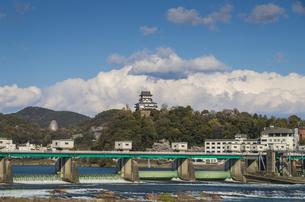 愛知県犬山市、ライン大橋と犬山城の素材 [FYI00221946]