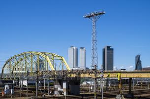向野橋と名駅高層ビル群の写真素材 [FYI00221971]