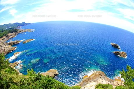水平線と岩礁の素材 [FYI00222036]