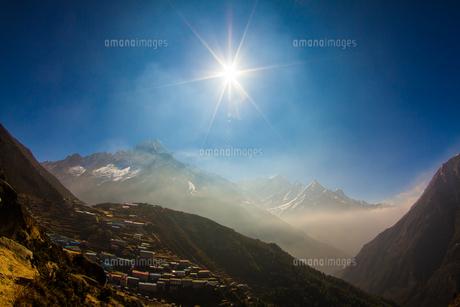 ヒマラヤの山村の写真素材 [FYI00222049]