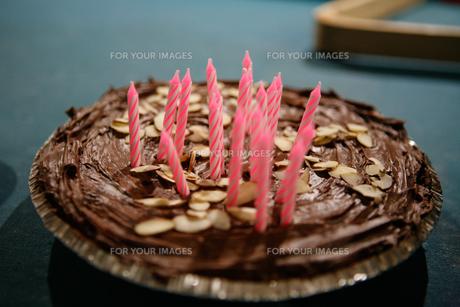 バースデーケーキの写真素材 [FYI00222232]