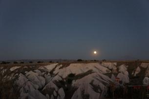 カッパドキアの夜景の写真素材 [FYI00222414]