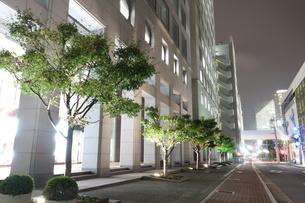 神戸市街地オフィス街・夜の風景の写真素材 [FYI00222434]