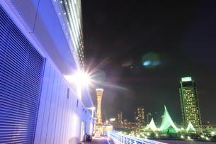 神戸メリケンパークの夜景の写真素材 [FYI00222449]