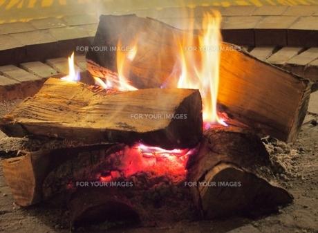 暖炉の写真素材 [FYI00222679]